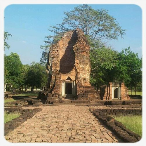 Old Town Ancient Palace.  History Place Sri Thep - Thailand