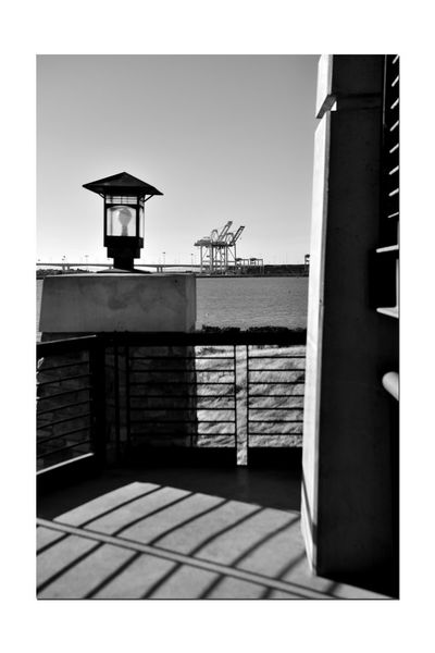 Observation Tower 11 Middle Harbor Port Of Oakland,Ca. Late Afternoon Shadows Observation Tower Deck Tower Lamp Handrails Gantry Cranes Light Towers Bnw_friday_eyeemchallenge Silhouettes Architecture Monochrome Lovers Monochrome Black & White Black & White Photography Black And White Black And White Collection  Afternoon Shadows Maritime Landscape_Collection Landscape Photography Lookout Tower