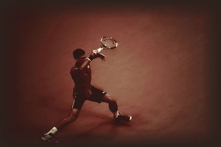 The Color Of Sport Full Length Mid-air Motion Casual Clothing Playing Young Adult Enjoyment Performance Exploration Carefree Novak Djokovic Usopen Tennis 🎾 Sports