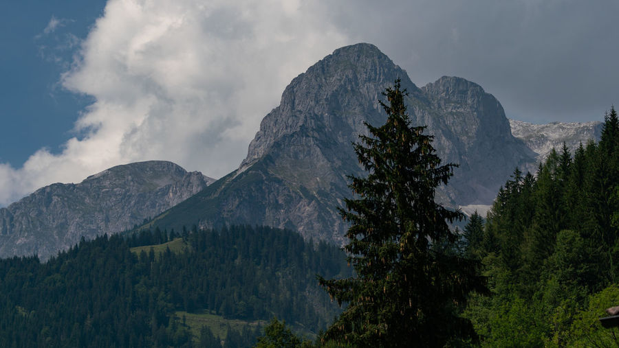 Austria Werfenweng Awesome Beauty In Nature Cloud - Sky Day Formation Growth Idyllic Landscape Mountain Mountain Peak Mountain Range Nature No People Non-urban Scene Outdoors Plant Range Remote Scenics - Nature Sky Tranquil Scene Tranquility Tree