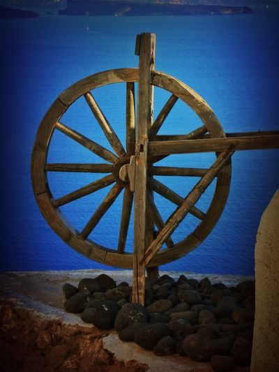 Santorini, Greece Close-up Day Mill Wheel Nature No People Old-fashioned Outdoors Sea Sky Water Wheel