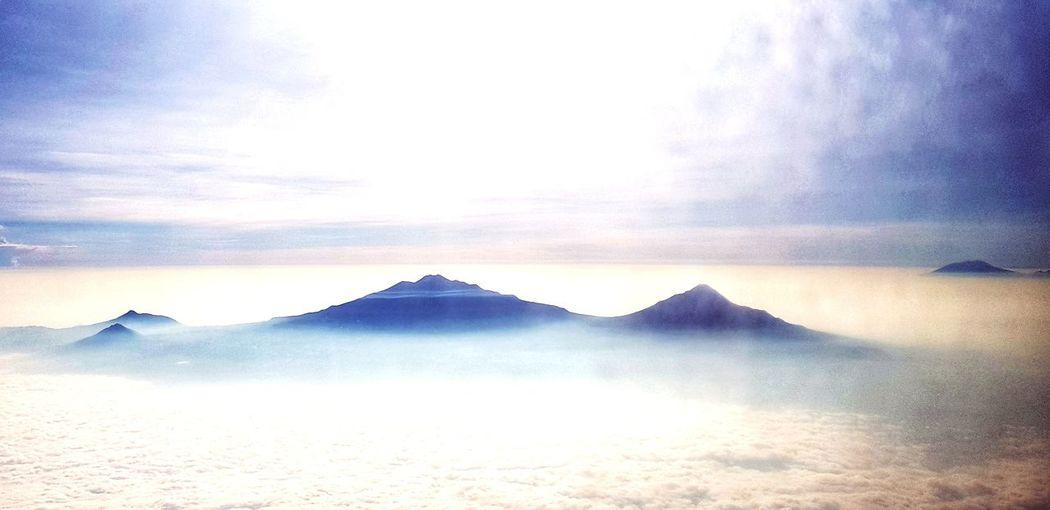Mount Merapi and Merbabu Mount Merapi Mount Merbabu Mountain Top Java Central Java Flightview EyeEm Selects Mountain Sky Landscape