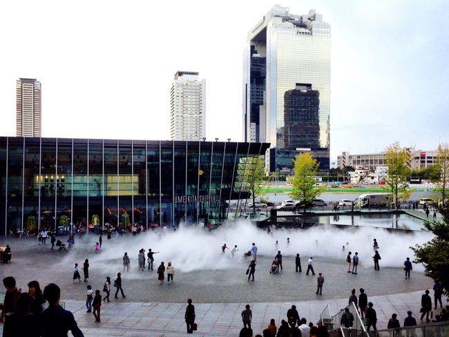 もこもこ白い雲〰︎♬ These are like white clouds☁️ Cloudpark Osaka Station 冬にはスケートリンクに早変わりThat's replaced soon in the skating rink Winter-version Good-idea