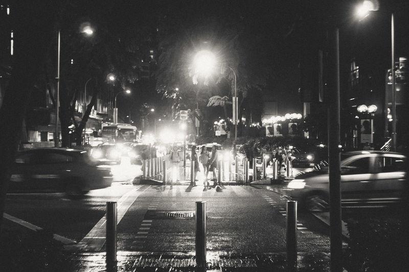 Blackandwhite City Life Nightscape Nightscenem Rainy Days Singapore Singapore City Streetphotography Streetsofsingapore