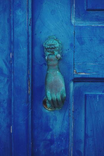 blue door Door Wood - Material Blue No People Outdoors Close-up Day Doors Doorway Doorporn Doors Lover Doorknob Door Handle Knob Hand Greek Door Blue Color