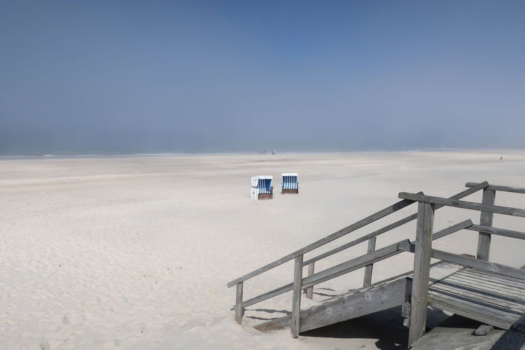 Foggy Weather Sylt, Germany Westerland, Germany Westerland, Strand, Ebbe Beach Beach Chairs Beauty In Nature Clear Sky Day Foggy Foggy Landscape Horizon Horizon Over Water Land Nature No People Outdoors Sand Scenics - Nature Sea Sky Sylt_collection Tranquil Scene Tranquility Water