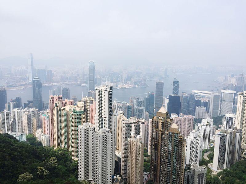 From The Rooftop looking over Hong Kong HongKong Hong Kong Victoria Peak