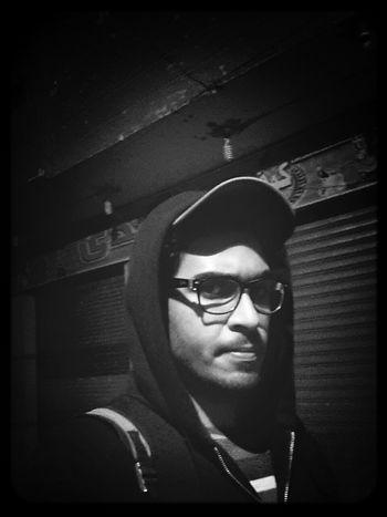 Hi! That's Me Black And White Selfie
