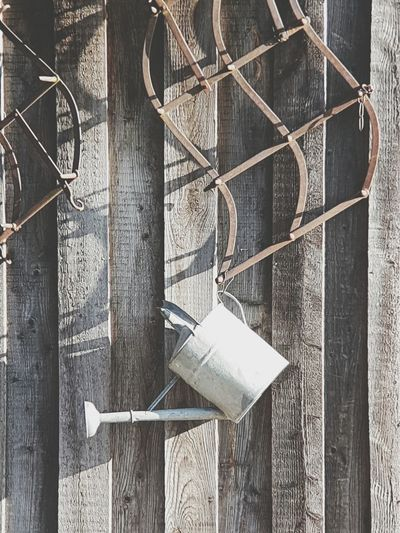 Wood - Material Background Cover Gardening Gardening Equipment Garden Photography Wood Wall Wall Decoration Can Watering Can Watering Cans Urban Garden