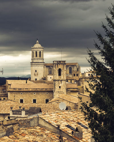 Catalonia Catalunya City Cityscape Game Of Thrones Girona Architecture Belief Building Building Exterior Built Structure Cloud - Sky Darkclouds Gameofthrones Got Medieval Nature No People Oldtown Outdoors Place Of Worship Religion Sky Spirituality