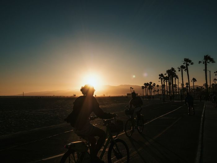 People on bicycle in santa monica