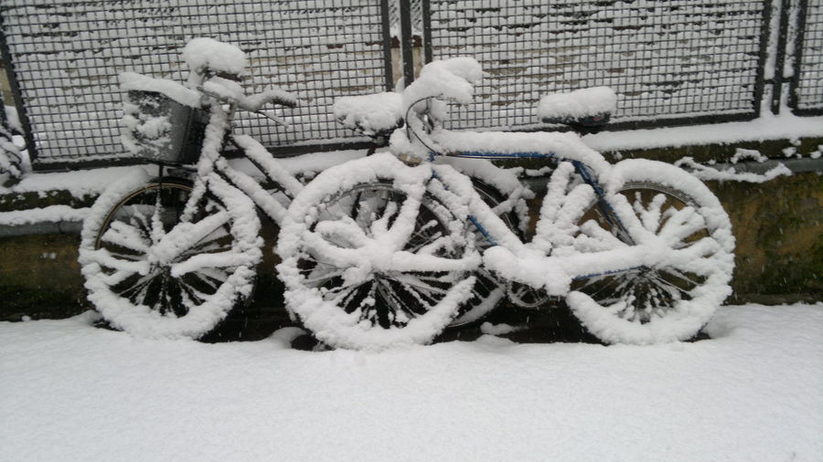 Supernormal Biciclette Sotto La Neve Snow ❄bicycles Cold Winter ❄⛄ CyclingUnites