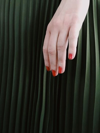 Human Hand Human Body Part Real People One Person Human Finger Red Nail Polish Nail Polish Close-up Indoors  One Woman Only Day Artistic Photo IPhone Photography Green Background EyeEmNewHere Fresh On Market 2017