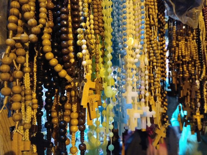 Close-Up Of Rosary For Sale In Market