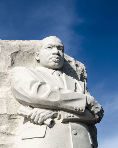 MLK Statue, Washington, DC Art Blue Casual Clothing Cloud Day Lifestyles Low Angle View MLK MLK Day MLK Jr Day MLK Memorial Outdoors Portrait Sky Statue Washington, D. C. WashingtonDC First Eyeem Photo