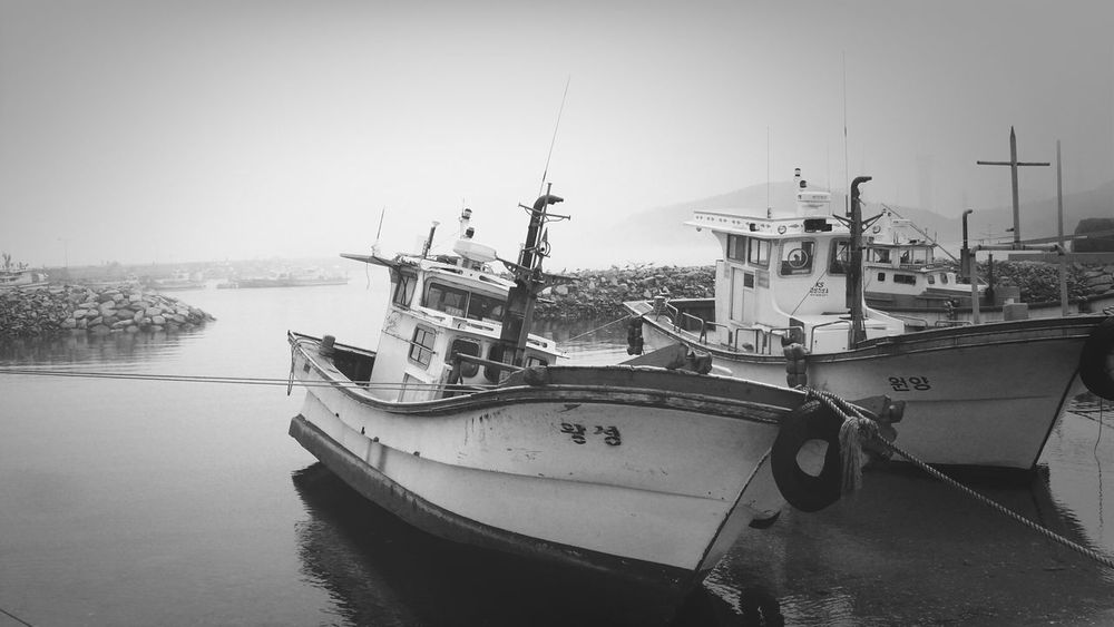 Black & White Mono Photo Old Ship Beach