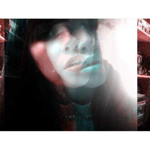 Despair, hangover & ecstasy ⚡ DespairHangover &Ecstasy Thedø Girl Distortion Face Blue Red Lips Mouth Eyes Girl Me Instaphoto Instapic
