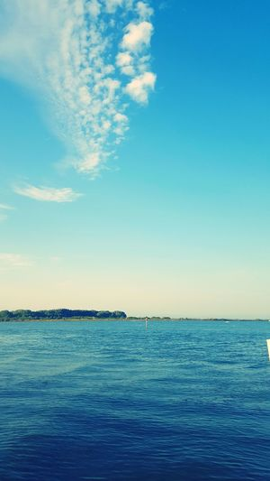 Sea Sky Blue Water Outdoors Tranquility Horizon Over Water No People Day Landscape Beauty In Nature Vacations Cloud - Sky Beach Summer First Eyeem Photo