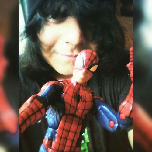 Spidey keeping me company Figurelife Selfie Monday Spidey Spiderwoman Figureselfie Marvel Marvellengends Spideyfan Actionfigure Nerdyguy Happynerd Hasbro Disney Geeky Mcu Classicspiderman Obsessed Favorite MyBOO