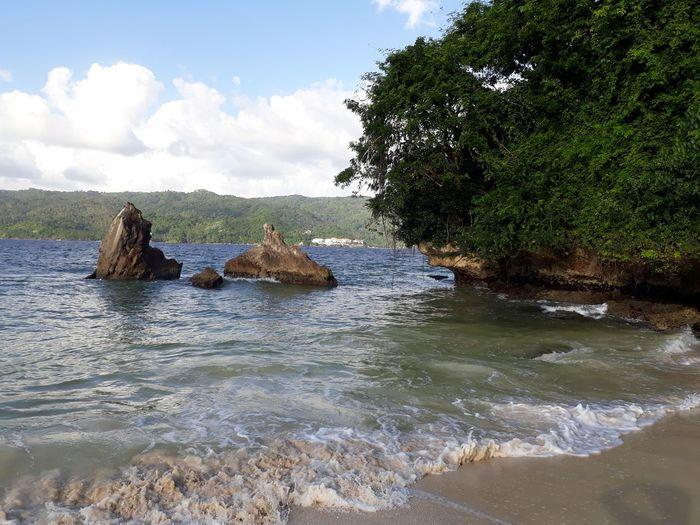 Самана, республика Доминикана. Love Day Dominican Republic Tree Water Sea Sky Cloud - Sky Landscape Heart Shape