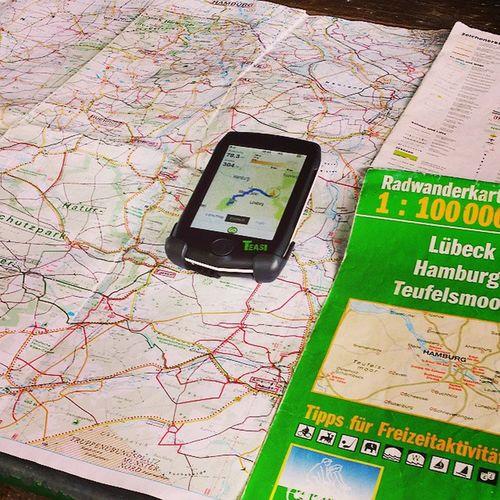 Tagesroute planen - traditionell und neu Landkarte Lüneburgerheide Teasi GPS Draußen Radtour Biketouring