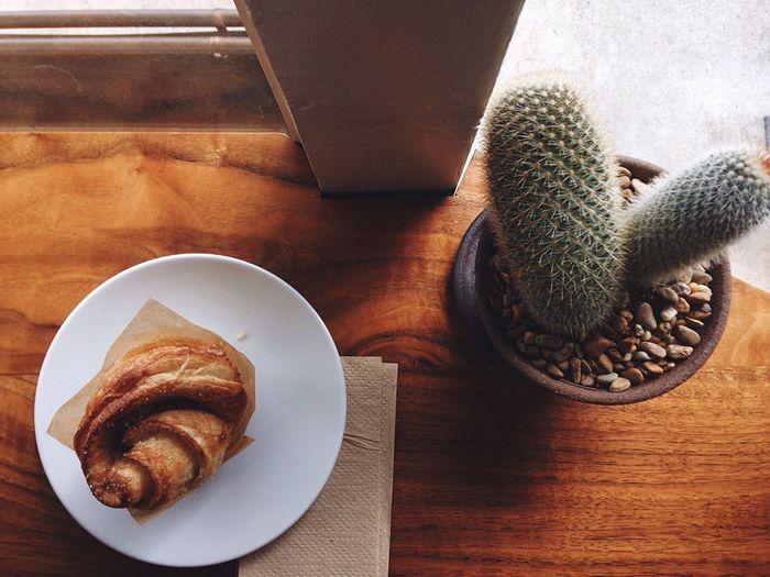 My Favorite Breakfast Moment Kouing Aman Pastry Cactus Breakfast Natural Light