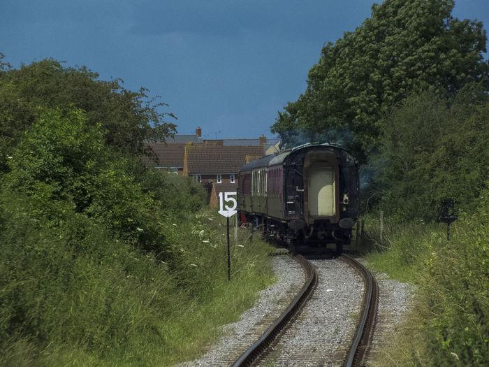 Diminishing Perspective Grass Railroad Track Summer Swindon Swindon & Cricklade Railway The Way Forward Train