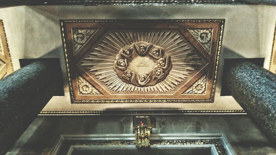 Ornate Architecture Low Angle View Indoors  Close-up No People Day Sankt-Petersburg Architecture Russia Riddle Masons Eye