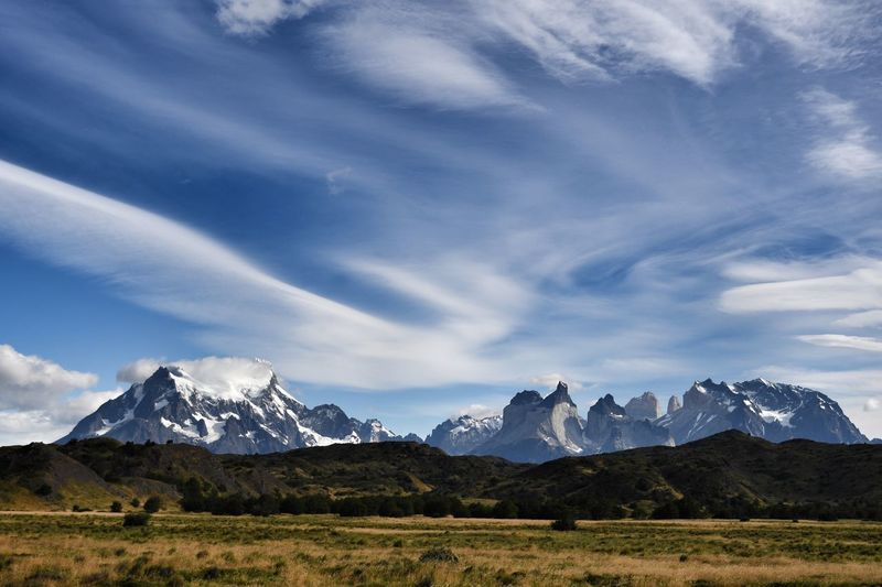 Torres del Paine, Patagonia Patagonia Chile Torres Del Paine EyeEm Selects Mountain Landscape Sky Peak Nature Scenery Mountain Range Wallpaper Snow Height Beauty In Nature No People Day Outdoors Range