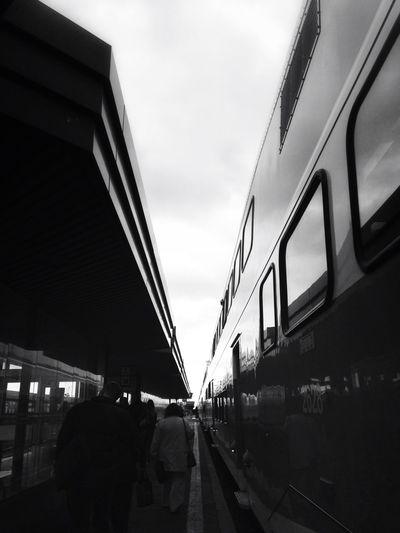 Blackandwhite Riding The Train Public Transportation Go Transit