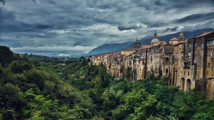 Sant'Agata De' Goti Ruins Hystory cloud - sky Mountain Cloudscape Mountain Range Cloudy Day Outdoors Architecture Built Structure Scenics Nature