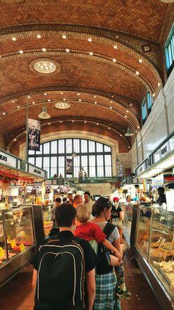 West Side Market Ohio, USA Brick Ceiling Pattern Lifestyles