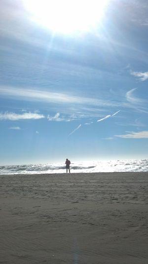 Ocean Beach Man Solitary Afternoon Phoneography Sun California California Love California Coast California Dreaming San Francisco