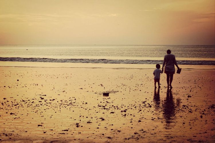 love you, mom. Sunset Beach Photography Bali Beach