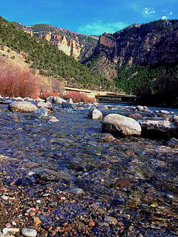 Colorado River Colorado Photography Colorado River Nature Rock - Object Beauty In Nature Tranquil Scene Tranquility No People Outdoors Day Mountain Scenics Landscape Water Sky Tree