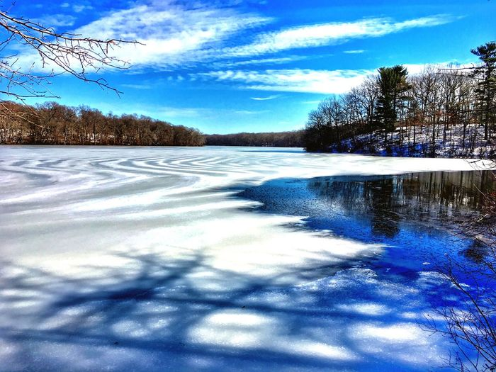 TheBigFreeze-BlydenburghPark Cold Temperature Winter Snow Nature Frozen Weather Frozen Lake Tree Beauty In Nature Ice Sky Frost Scenics Tranquility Flat Cold Landscape Blydenburgh Park Long Island, Ny Smithtown USA No People White