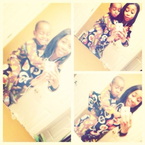 My Heart & I #thuggin In Our Onesies