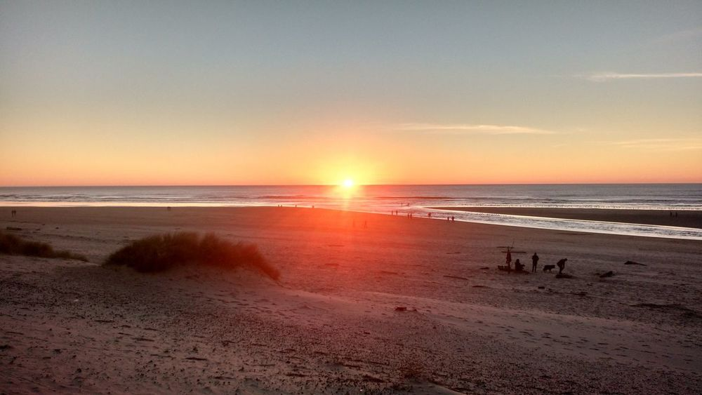 Sea Beach Sunset Sand Horizon Over Water Nature Tranquil Scene Summer Beauty In Nature Outdoors Sun Scenics Dramatic Sky Tranquility Sky Tourism Water Travel Destinations Vacations Landscape Canon Beach