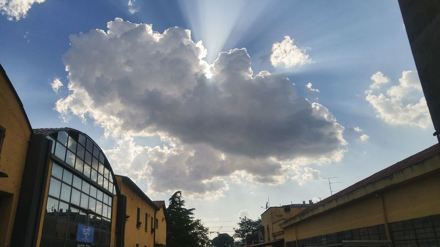Sun Sky Rays Of Light Clouds And Sky Cloudy Day Cloud - Sky Outdoors Sunbeam Blue Cloudy No People Cloudscape