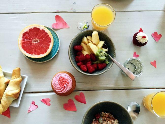 Breakfast Family Breakfast Family Fruits Hearts