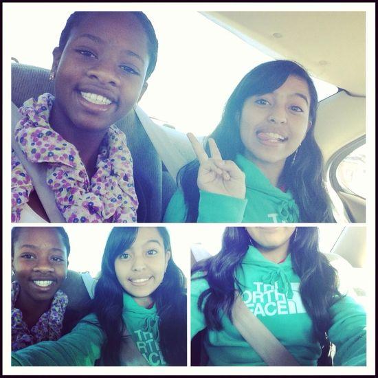 In the car with Tabisha ✌