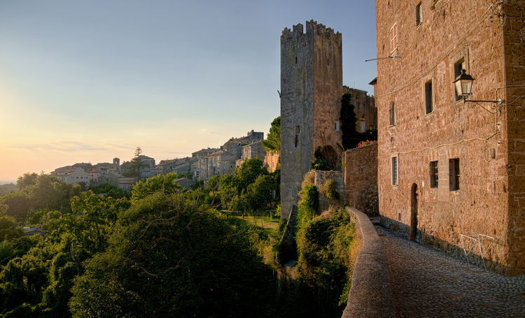 View of Vetralla, Italy Roma Rome Travel Trees View Viterbo Architecture Building Exterior Built Structure Castle Day History Italy Latium Nature No People Outdoors Pinnacle Sky Small Town Summer Sunset Travel Destinations Tree Vetralla An Eye For Travel Capture Tomorrow