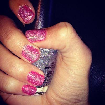 Nailfix! Naglar Glitter Rosa Nailart  Nails fränt snyggt