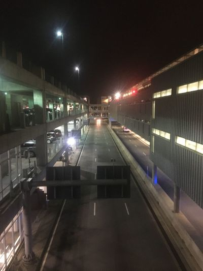 Hartsfield-jackson Atlanta International Airport (atl) Transportation Built Structure No People Night Outdoors Illuminated