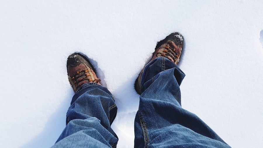 Snowy Journey Walk Clothing Jeans Snow ❄ Snow White Snow Snow Covered Shoes White Winter Journey Journey Steps Shoes Winter Shoes Low Section Human Leg People Shoe Human Body Part One Person Leisure Activity Winter Lifestyles Day Close-up Adult Only Men Warm Clothing