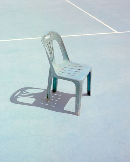 Empty chair at sports court