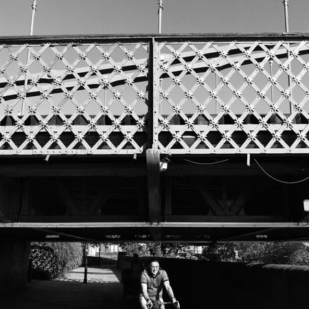Streetphotography Street Photography Hammersmith Hammersmith Bridge Cyclist Pattern Architecture Metal Grate
