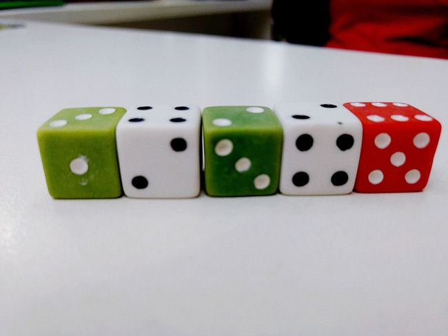 Gambling Dice Green Color No People Luck Indoors  Chance Day Jokers 3XPSUnity Ipatinga 3XSPhotography EyeEm Best Shots Contrast The Week On EyeEm Playing Poker - Card Game High Angle View