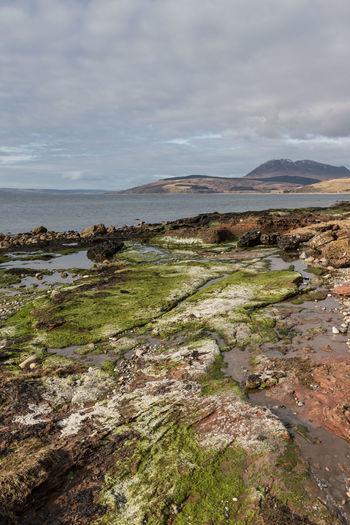 Küste auf der Insel Arran in Schottland Isle Of Arran  Scotland Beach Beauty In Nature Canon Canon EOS 750D Cloud - Sky Colorful Kings Caves Landscape Moss Nature No People Outdoors Rock Scenics - Nature Sea Tranquil Scene Water Wide Angle
