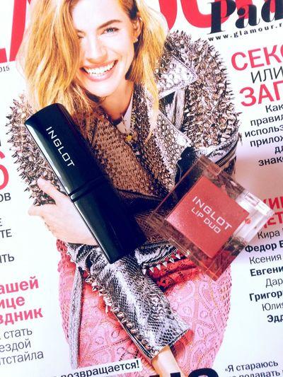 Glamour Journal Cosmetics Inglot Lip Gloss SiennaMiller Lipstick Woman Fashion&love&beauty
